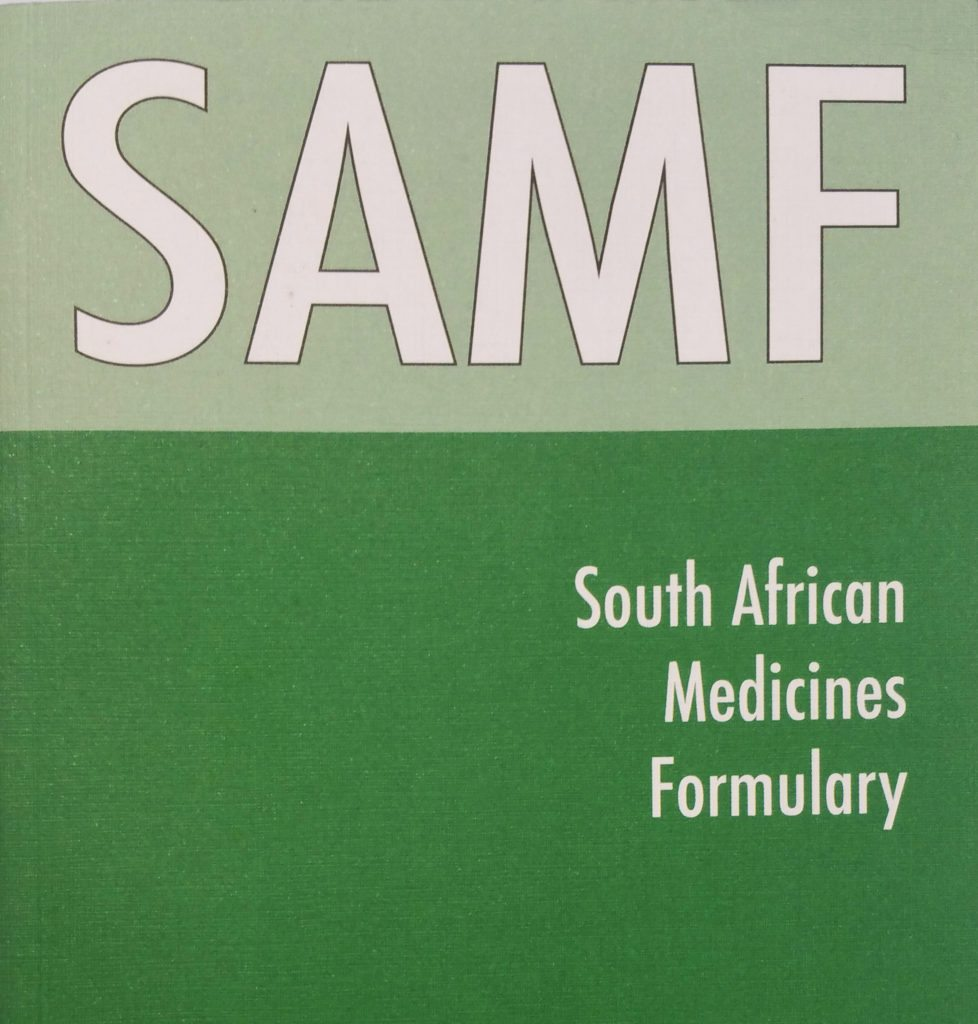 Samf samf - south african medicines formulary, 12th edition - md inc